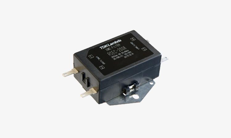 【TDKラムダ】EMCフィルタ:ファストン端子タイプの単相用EMCフィルタ「RSEC-2006」の画像