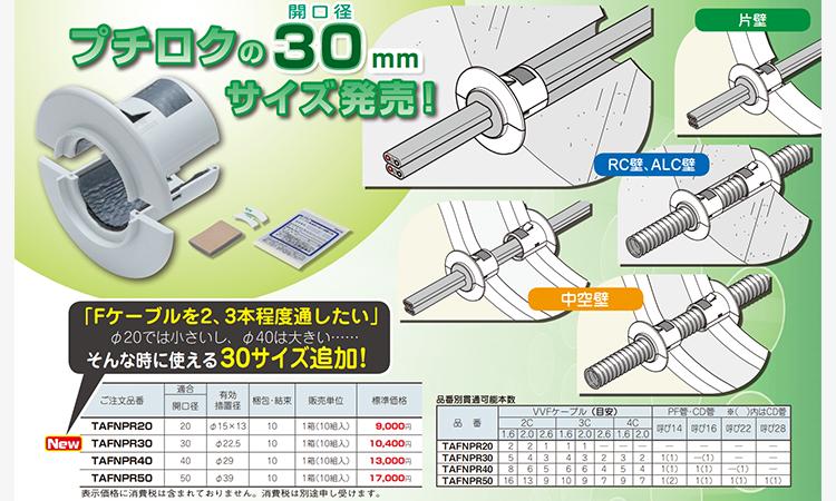 【ネグロス電工】小開口用防火措置材を販売開始の画像
