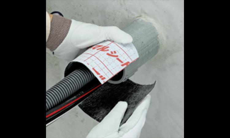 【ネグロス電工】工具の要らない防火貫通部塞ぎ材 タフロックイチジカンパイプを販売開始の画像