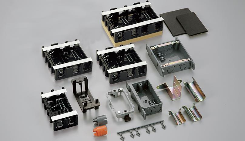 【日動電工】間仕切り用ボックス、Bシリーズに探知用磁石付タイプを新発売の画像