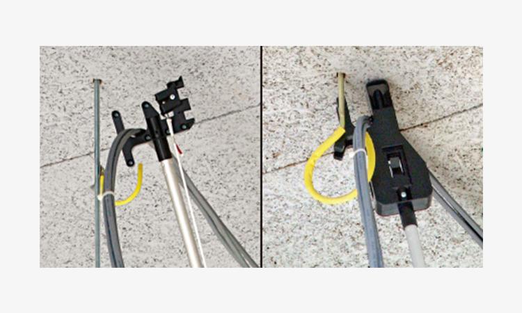 【ネグロス電工】床から高所配線作業が可能なツール「ラク天ツール」を販売開始の画像