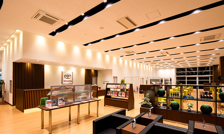 【オーデリック】「山形トヨタ自動車天童店」の施工事例を公開の画像