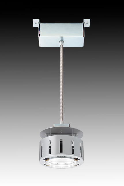 【岩崎電気】 免震機能(振れ防止機構)を採用 LED高天井用 照明器具の受注を開始の画像