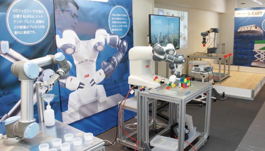 【因幡電機産業】東京・五反田にロボットセンターTOKYO 協働ロボットの専門施設の画像
