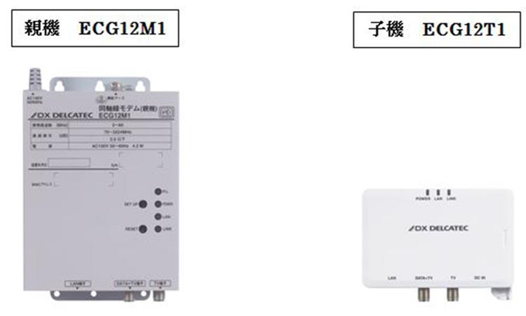 【DXアンテナ】テレビの同軸ケーブルを利用したインターネット接続モデムを販売開始の画像