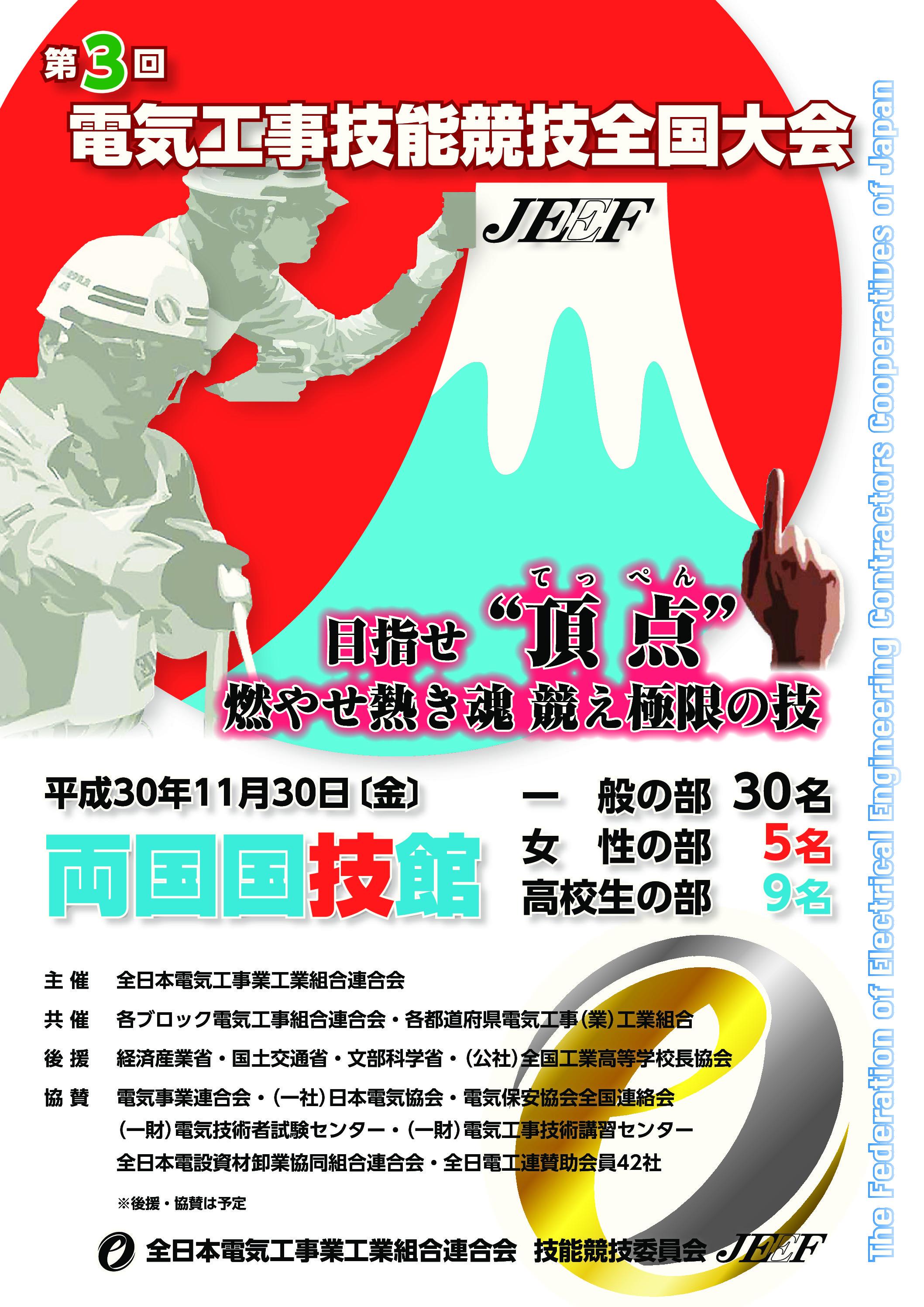 『第3回電気工事技能競技全国大会』2018年11月30日(金)両国国技館で開催!!の画像