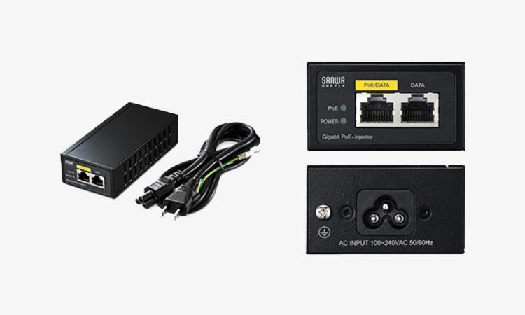 【サンワサプライ】PoEを簡単に構築できるPoEインジェクターを販売開始の画像