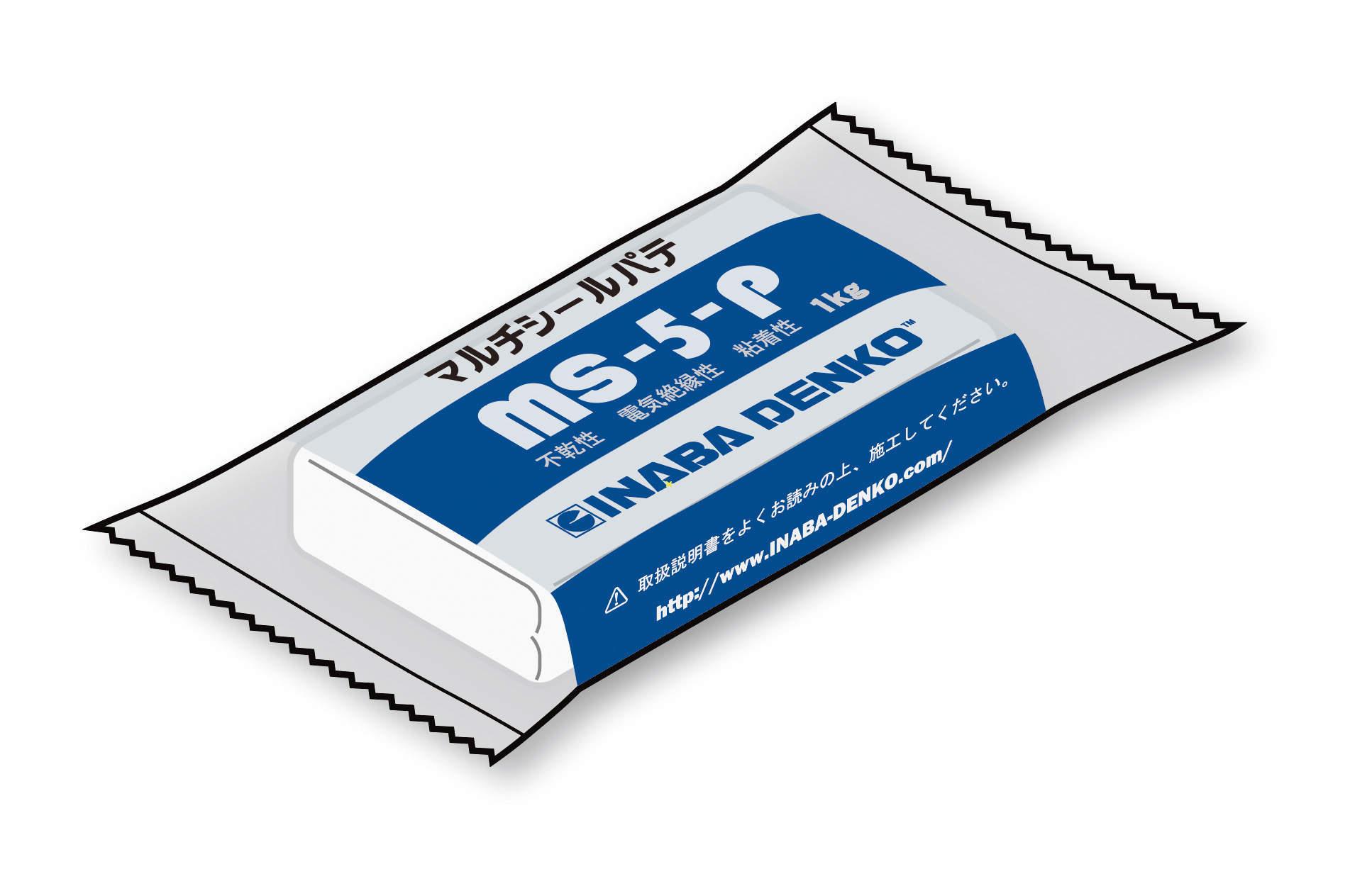 【因幡電工】すき間の充てんや目地の補修などに!マルチシールパテにホワイト色『MS-5-P』新発売!!の画像
