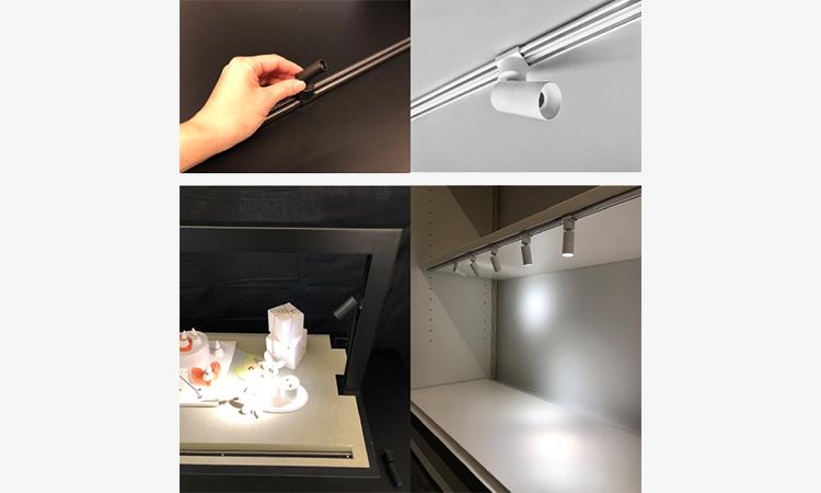 【DNライティング】限られた空間に対応した可動型照明用レール「ミニレールスポット」を開発の画像