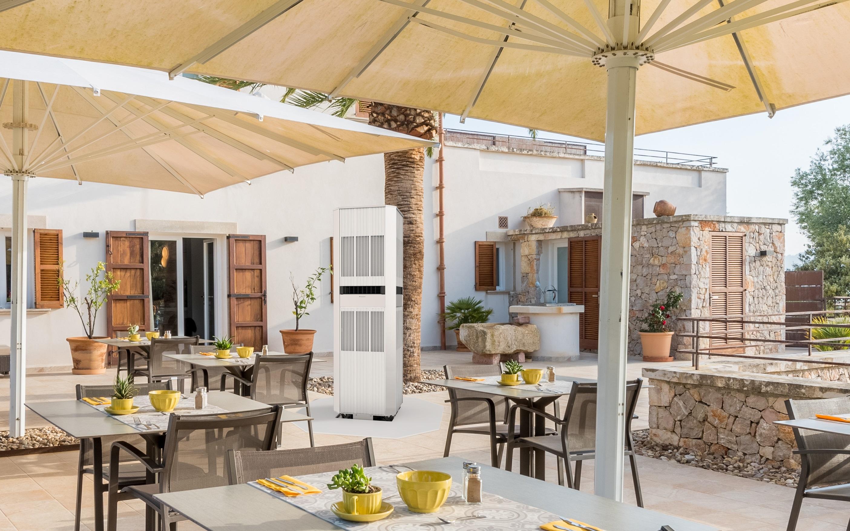 【ダイキン工業】真夏の屋外に涼しい風をお届け!屋外用エアコン『アウタータワー』を5月発売の画像