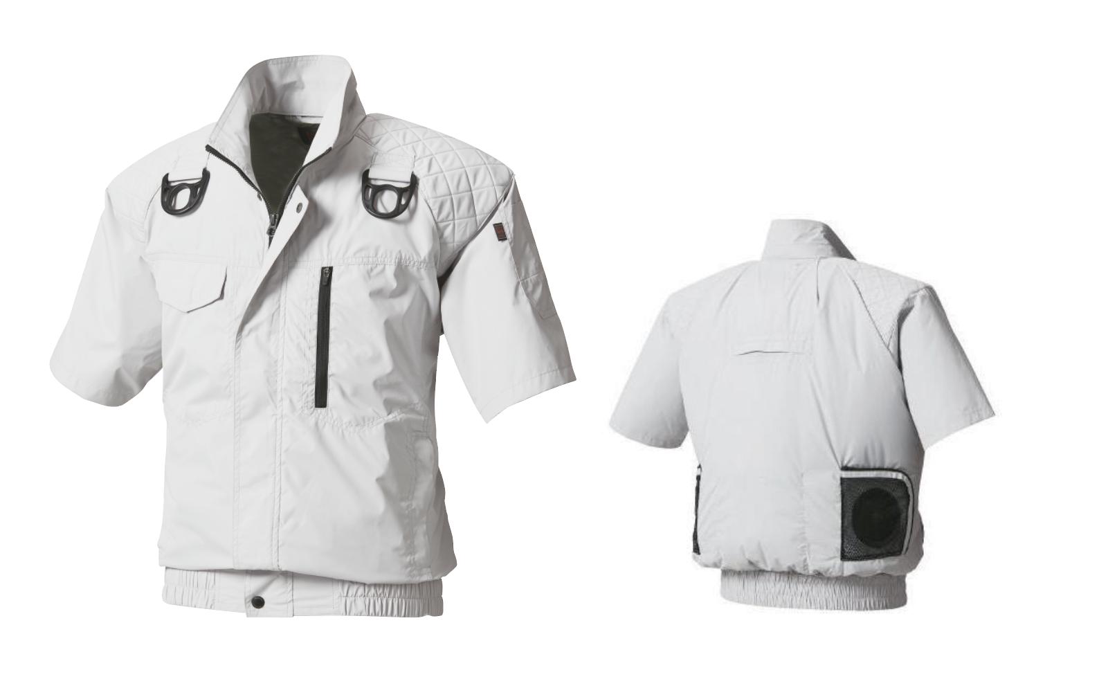 【キーポイント】熱中症対策・作業効率アップに今年も手放せない空冷服!『ハーネス対応半袖ブルゾン空冷服』の画像