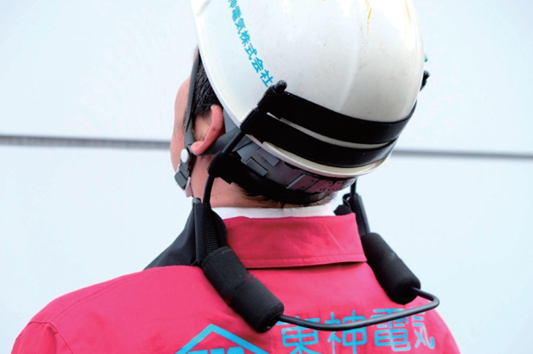 【東神電気】長時間の上向き作業での首の負担を軽減 作業負担軽減商品「ヘッドキーパー」発売の画像