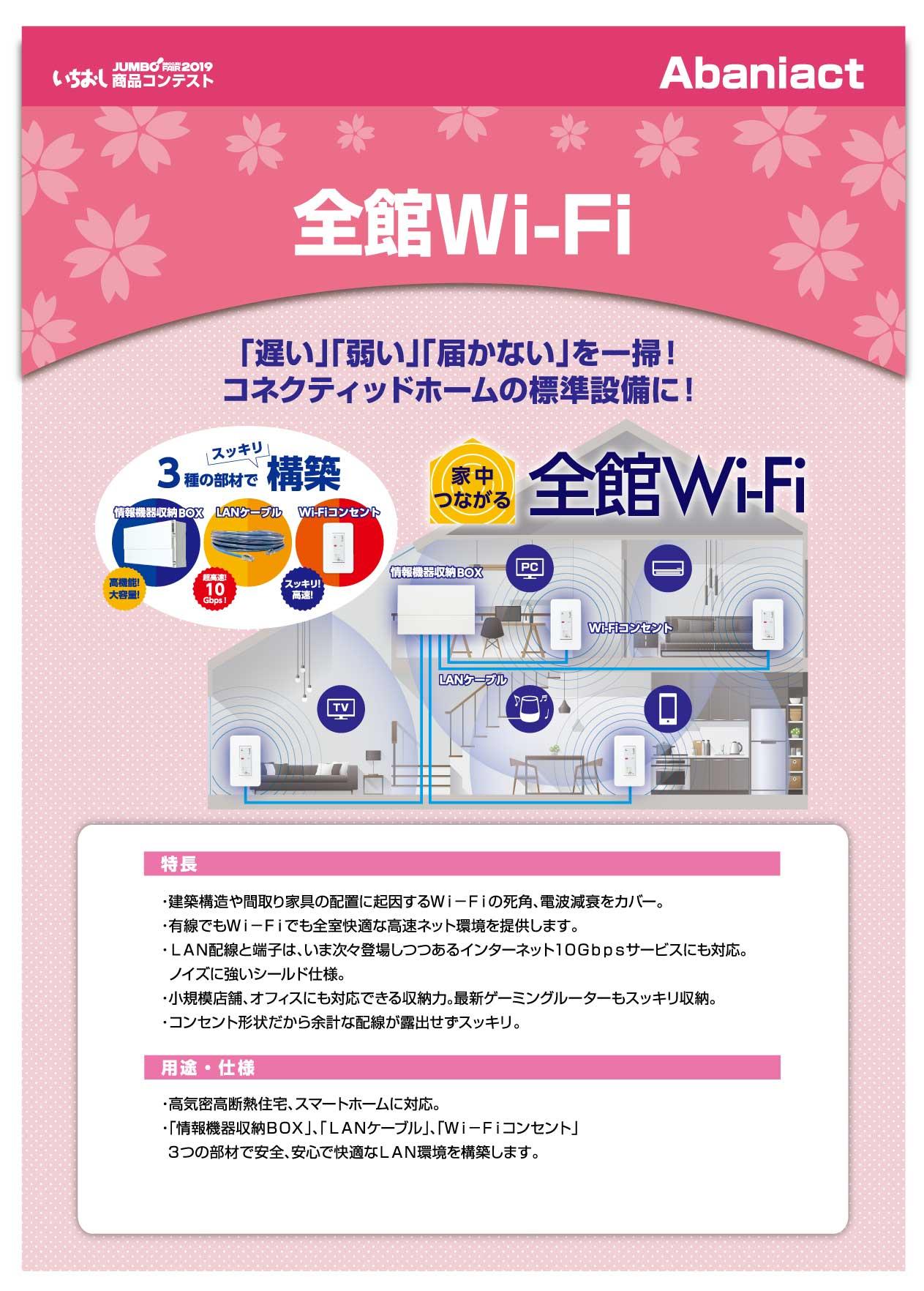「全館Wi-Fi」Abaniactの画像