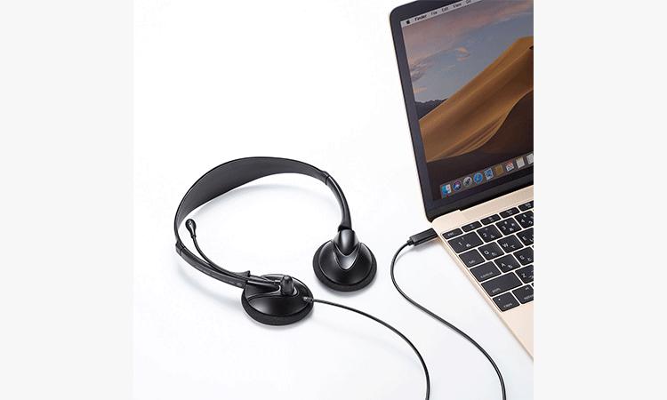 【サンワサプライ株式会社】USB Type-C接続でノイズが少なく高音質の軽量ヘッドセットを発売の画像