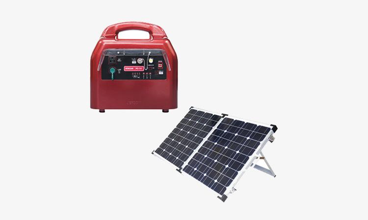 【ジェフコム株式会社】ポータブル蓄電器セット:電源のない場所に必携の画像