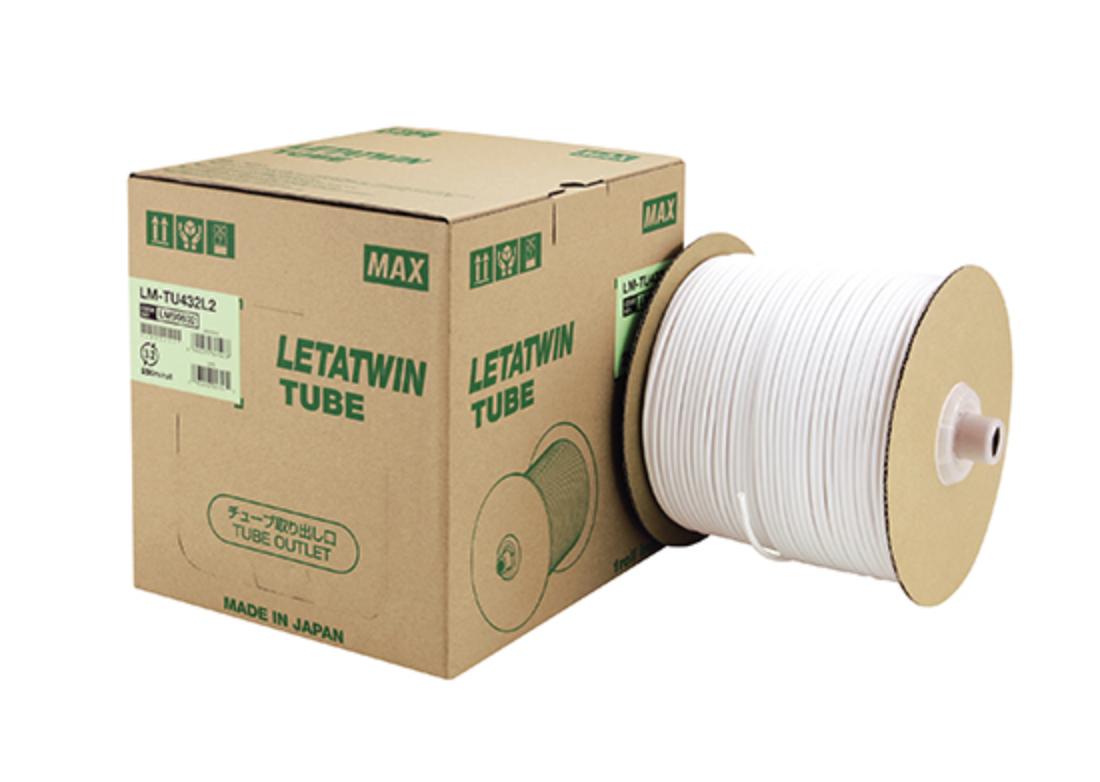 【マックス】電線径にぴったり合わせたマークチューブと出荷の多い種類をリニューアル!『レタツイン用ドラム式丸チューブ』の画像