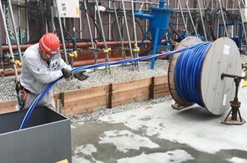 古河電工 アルミCVで省力化実現 大阪の梅田タワーに採用の画像