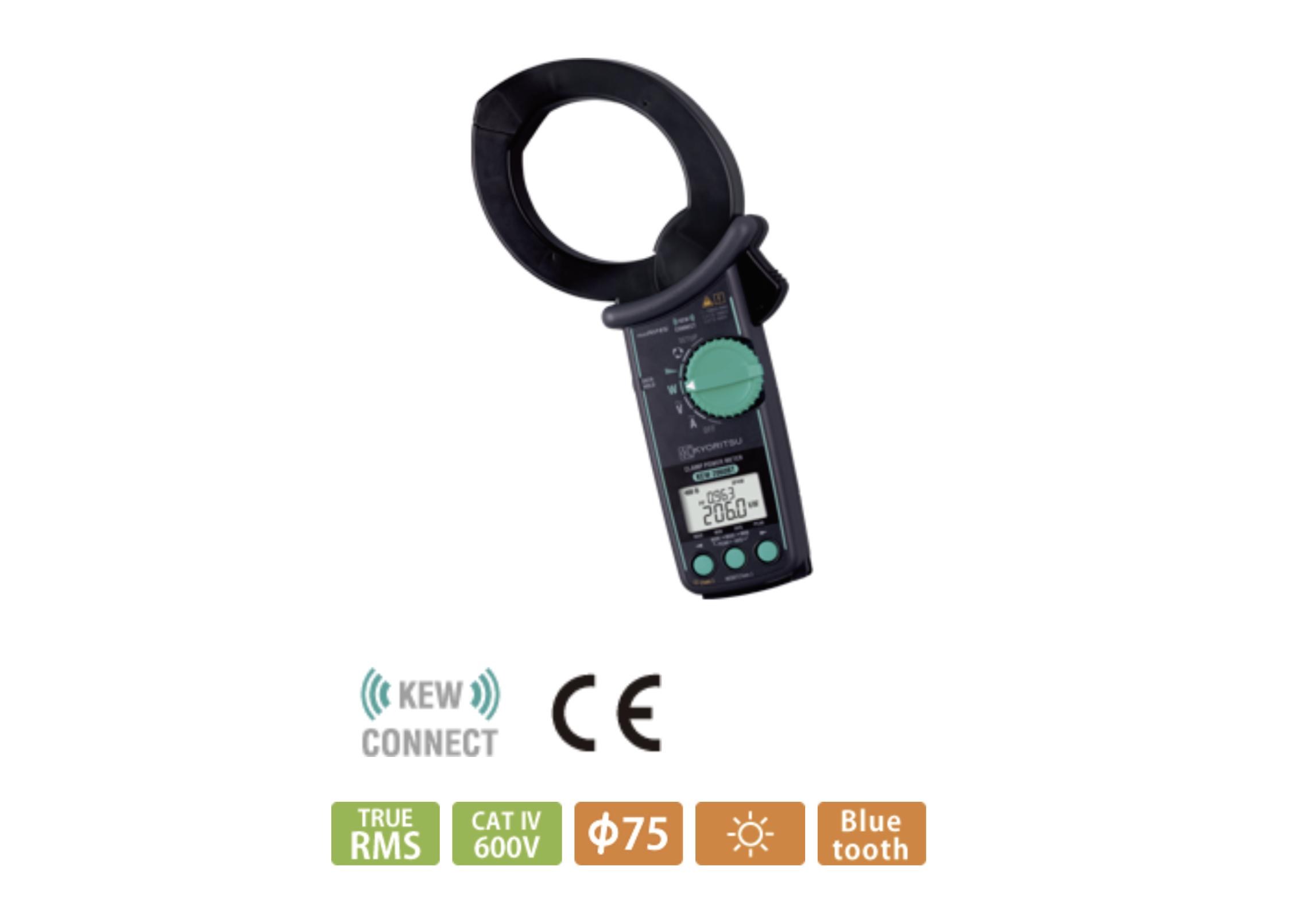 【共立電気計器】Bluetooth搭載でリアルタイムに波形観測『クランプパワーメータ KEW 2060BT』の画像