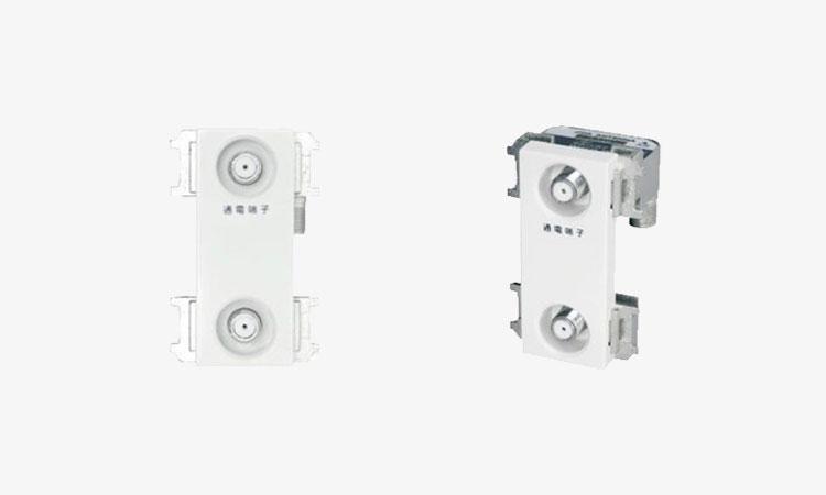 【DXアンテナ株式会社】新4K8K衛星放送に対応した通電形の「壁面テレビ端子」を新発売!の画像