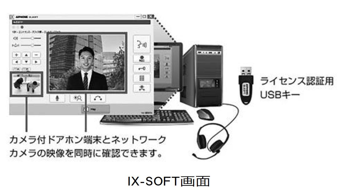 【アイホン】 「IXシステム」のPC用 インターホンアプリ発売の画像