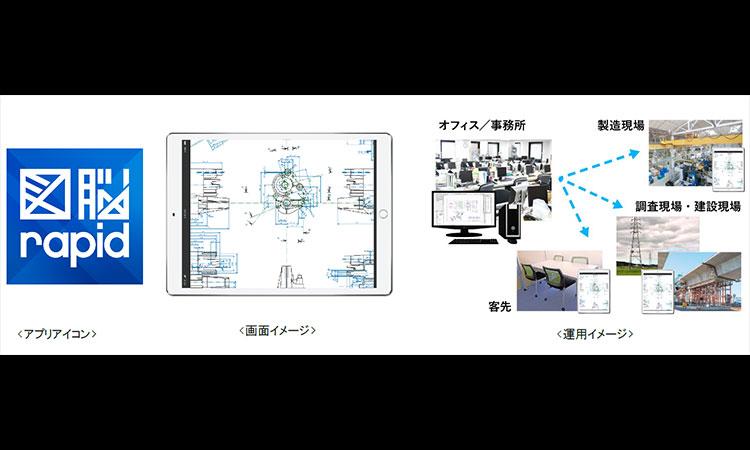 【株式会社フォトロン】iPadに図面を格納し現場で利活用! 紙に頼らないDX時代の図面運用 iPad版アプリケーション『図脳RAPID for iPad』公開開始の画像
