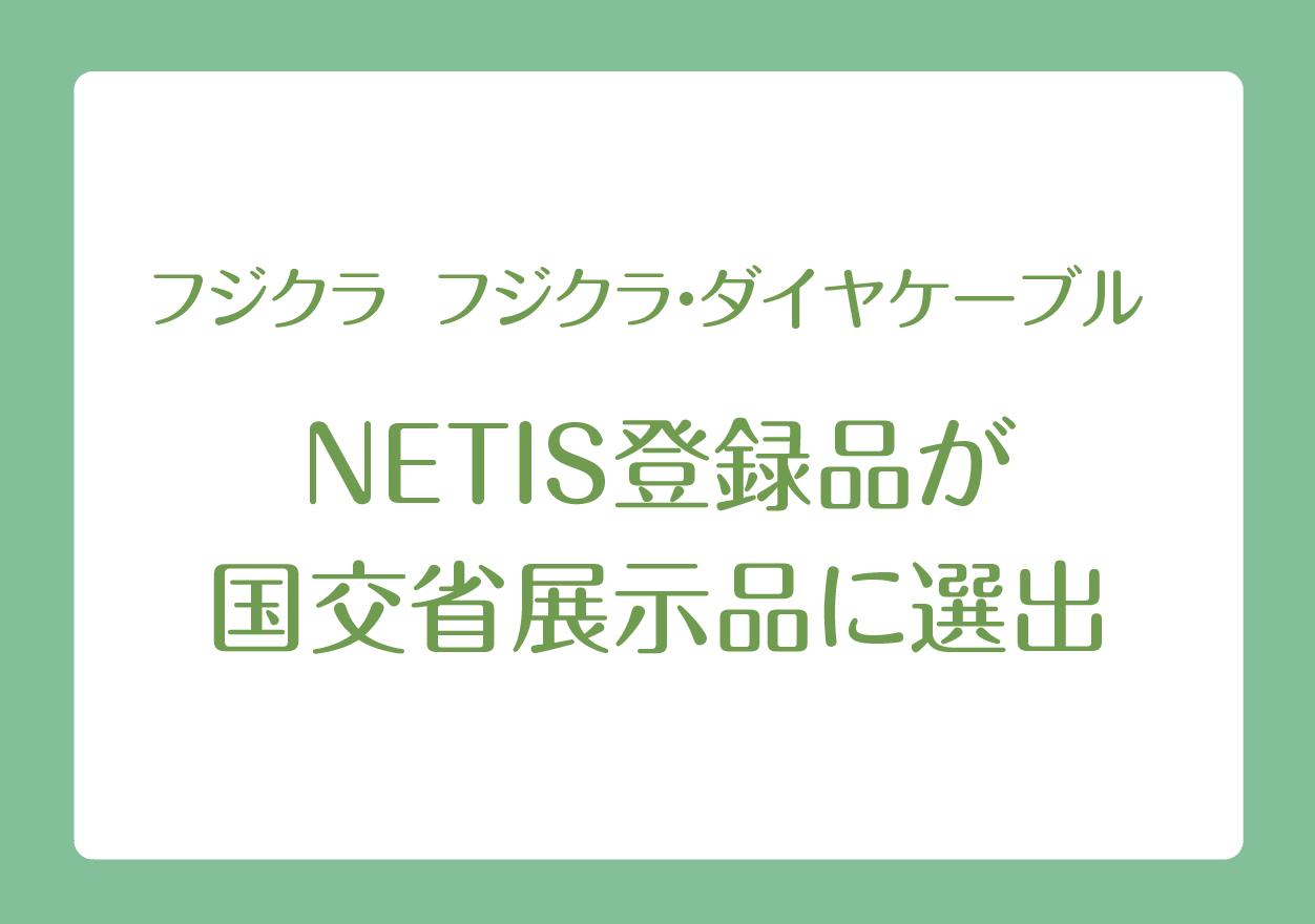 フジクラ フジクラ・ダイヤケーブル NETIS登録品が国交省展示品に選出の画像