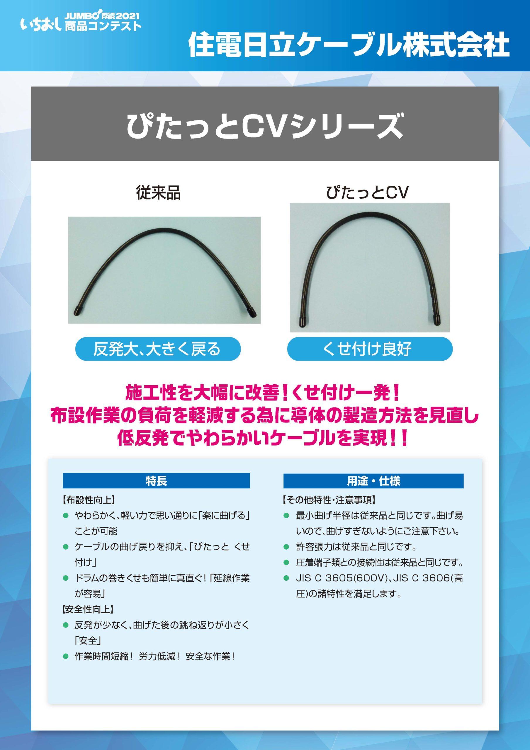 「ぴたっとCVシリーズ」住電日立ケーブル株式会社の画像