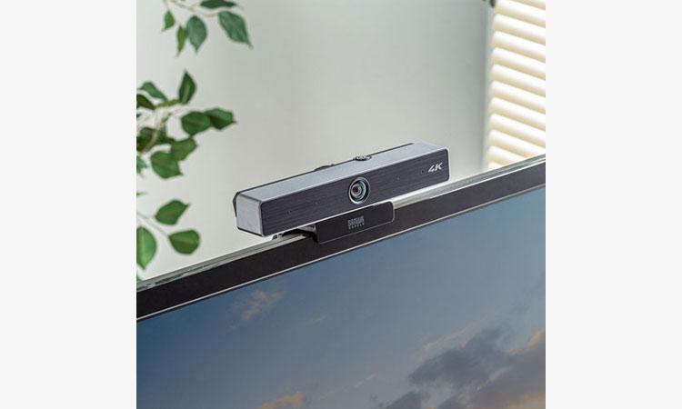 【サンワサプライ株式会社】複数人でのWeb会議に最適な広角レンズを採用した 4K対応のWEBカメラを発売の画像