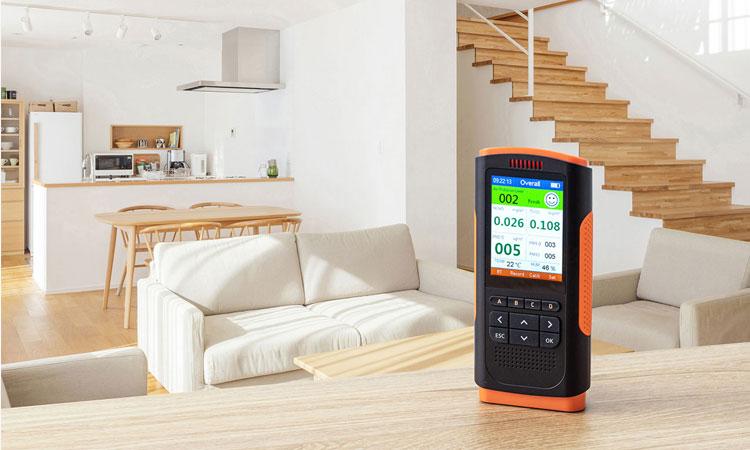 【サンワサプライ株式会社】PM1.0/2.5/10の濃度、温度、湿度、ホルムアルデヒドを測定表示する PM2.5測定器を発売の画像