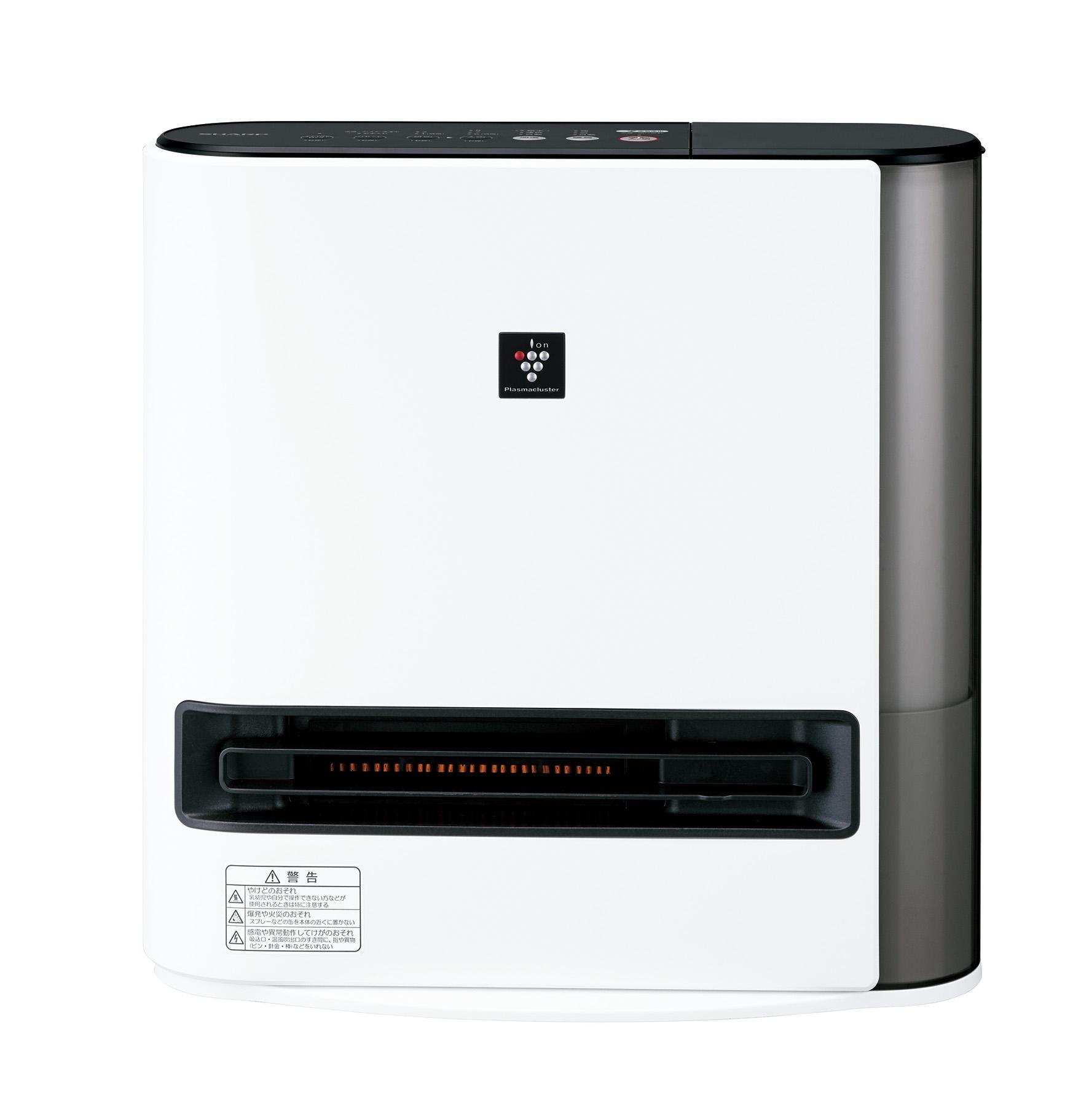 【シャープ】足元をしっかり温め、 加湿も清潔にたっぷりと『プラズマクラスター加湿セラミックファンヒーター HX-PK12』の画像
