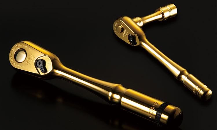 【京都機械工具株式会社】独創的かつ神秘性に満ちた輝きをまとった至高のハンドツール nepros「iPゴールドシリーズ」を数量限定で発売の画像